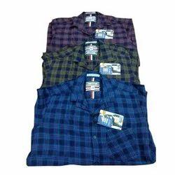 Cotton Collar Neck Men Formal Check Shirts