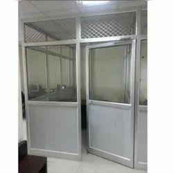 Rectangular Aluminium Glass Door