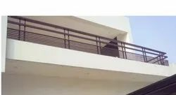 Bar Tempered Glass Iron Balcony Railing for Home