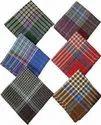 Big Size Dark South Checks Men Handkerchief, Size: 50 X 50 Cm