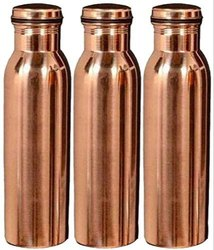 Copper Water Bottle Pack Of 3 - 1 Litre