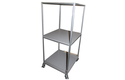 WIPL Industrial 2 Tier Caster Steel Pipe Rack
