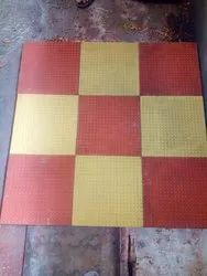 Red Grey Yellow Square, Chatura Cement Floor Tiles, Packaging Type: Box, Thickness: 5-10 mm