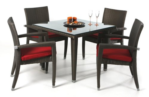Black Wicker Cl 028 Dining Chair Table For Hotel Rs 43710 Set Id 22239052730