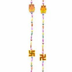 Ganesh & Swastik Multi-Color Latkan
