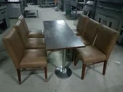 Dark Colors Plywood Second Hand Restaurant Furniture With 4 Seating Capacity