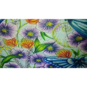 Digital Print Floral Silk Fabric