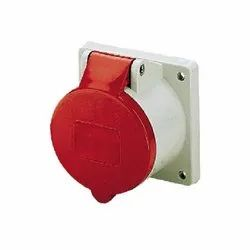 1385 Panel Mounted Industrial Socket Receptacle