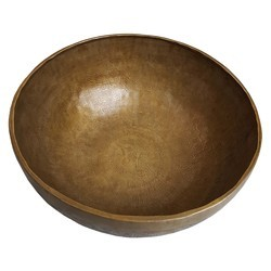Brass Handmade Singing Bowl With Mantra