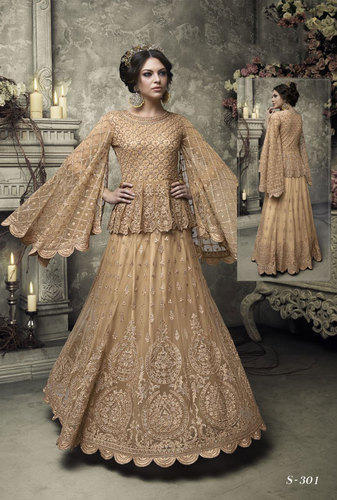 d63876c0dfd Georgette And Net Bridal Pakistani Wedding Dress