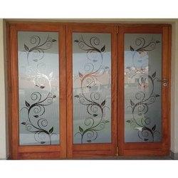 Folding Door Printed Glass
