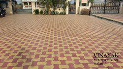 Reflective paver damroo design