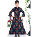 Ladies Cotton Black Printed Kurti