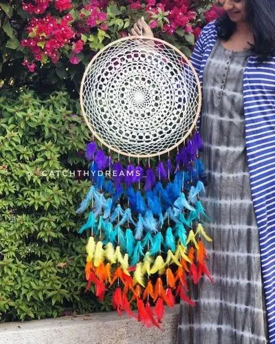 38 40 Inches Approx Crochet Dreamcatcher Rs 1499 Piece Catch Thy