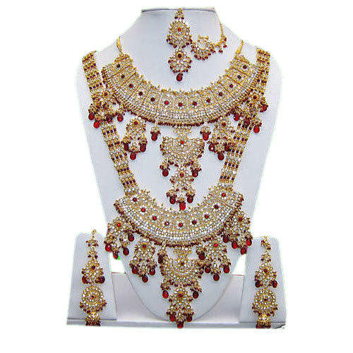 Ladies fancy wedding necklace set at rs 3150 piece south khalapar ladies fancy wedding necklace set junglespirit Image collections