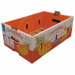 Corrugated Fruits And Vegetables Custom Made Box, Size: 1*1
