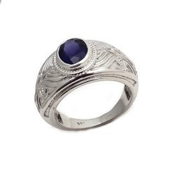 Natural Purple Amethyst Mens Top Class High Polish Fine Sterling Silver 92.5