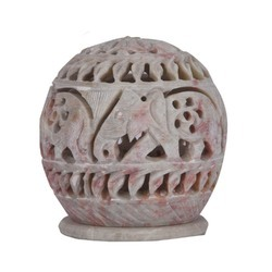Rawsome shack Soft Stone Marble Candle Holder