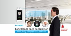 Realtime PRO1400T Temperature Checking Measurement Face Reading Attendance Access Control System