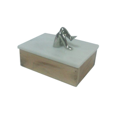 Marble & Wood Box with Knob