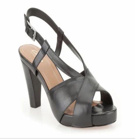 bf26537e Selena Jill Black Leather Sandal