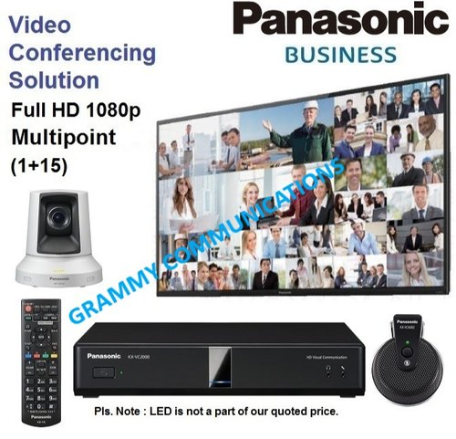 Panasonic Video Conferencing System : Multipoint 16-Sites Connection with 3x Optical Zoom