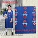 Denim Women's Straight Kurta