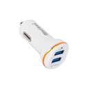12v White Car Charger 3.1a, For Charging