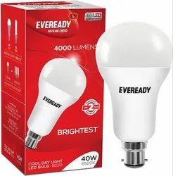 Cool Daylight Round Eveready Base B22 40 W LED Bulb