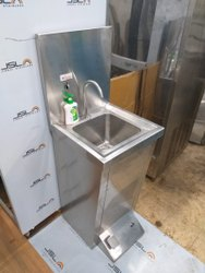 Manual Leg Operated Soap Dispenser Cum Wash Basin Stainless Steel 304