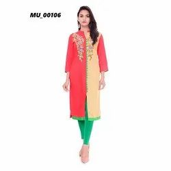 Casual Wear A-Line Ladies Cotton Kurti