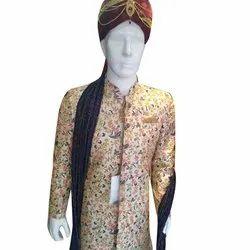 Printed Traditional Mens Wedding Sherwani, Size: M-xl