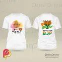 Polyester Plain Bjp Election Tshirt Printing, Extra