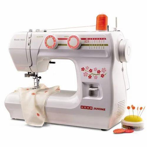 Usha Janome Wonder Stitch Sewing Machine For Medium Material Rs 12990 Piece Id 20553419062