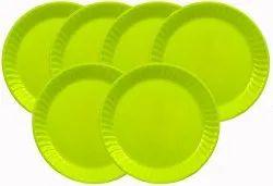Mehul 7 Plastic, Round Half/ Snack Plate, Set of 6 Pcs