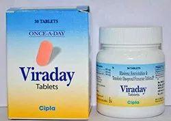 Viraday Tenofovir 300 mg Emtricitabine 200 mg Efavirenz 600 mg