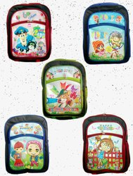 Polyster Printed Cartoon Character KG Bags for School