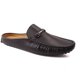 Daily Wear Men's Black Loafer Shoes, Packaging Type: Box