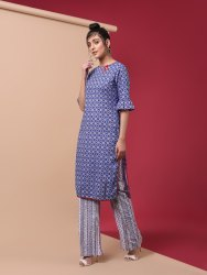 Kurta Pant Set In Cotton