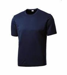 Plain Round Neck Polyester T Shirt