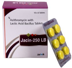 Azithromycin 250mg With Lactic Acid Tab