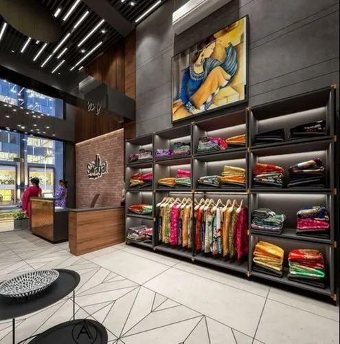 Commercial Interior Designing Saree Showroom Design Services Id 20924659662