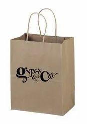 Brown Custom Paper Bags, Imported Rope Handle, Capacity: 5kg