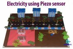 Electricity Using Piezo Sensor/Vibration/Walking Project Model