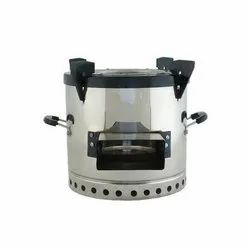 Stainless Steel Natural Draft Eco Stove, For Cooking