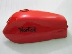 New Norton Fastback Commando Red Painted Petrol Tank