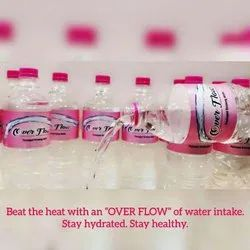 OverFlow Packaged Drinking Water, Packaging Type: Bottles, Available Packaging Size: 12