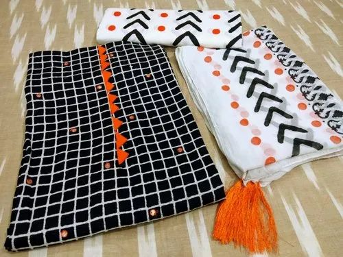 7dad1d8eec Regular Wear Trends And Rivaaz Printed Cotton Churidar Material, For Casual  Wear