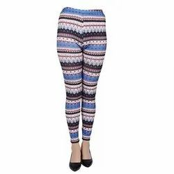 Cotton Multicolor Ladies Printed Leggings, Size: Free Size