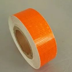 Micro Prismatic PVC Reflective Tape - Orange